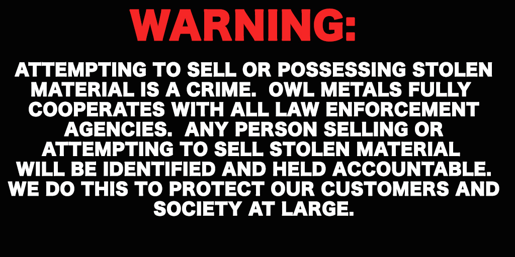 Buy Here Pay Here Md >> Stop Metal Theft In Baltimore MD With Owl Metals Inc
